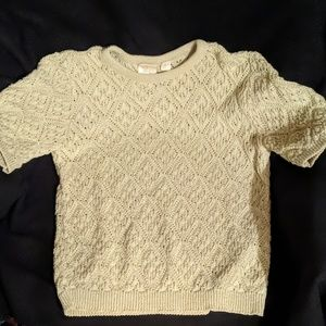 Champagne knitted Jaclyn sweater